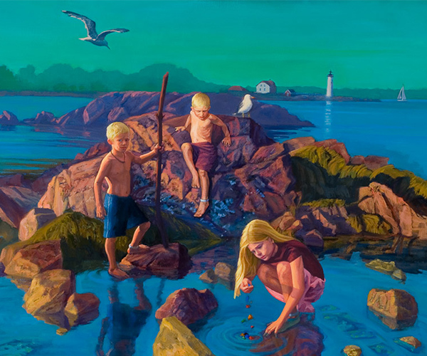 commissioned paintings gallery - Olivia, Lucas and Max