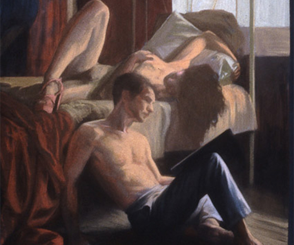 figurative works on paper gallery - Afternoon in Naples