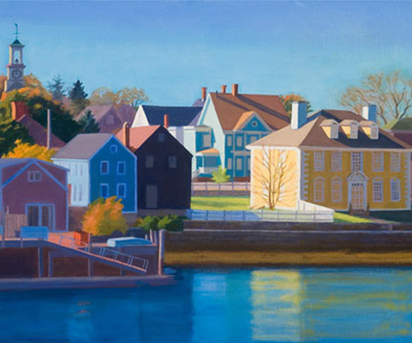 landscape painting - South End Piscataqua Passage