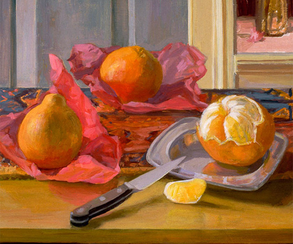 still life gallery - Peeled Oranges and Manet