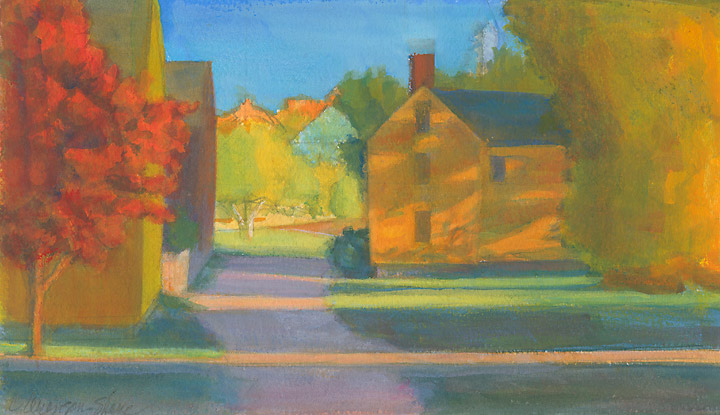 landscape oil painting - Lowd House Shadows, Fall
