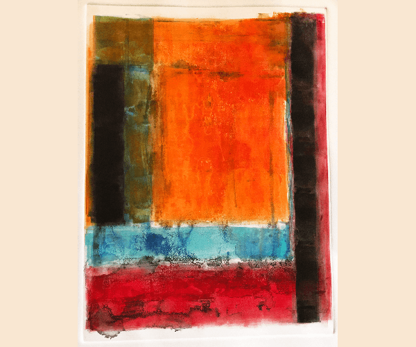 monotypes gallery - Blazing Sun and Blue Sea