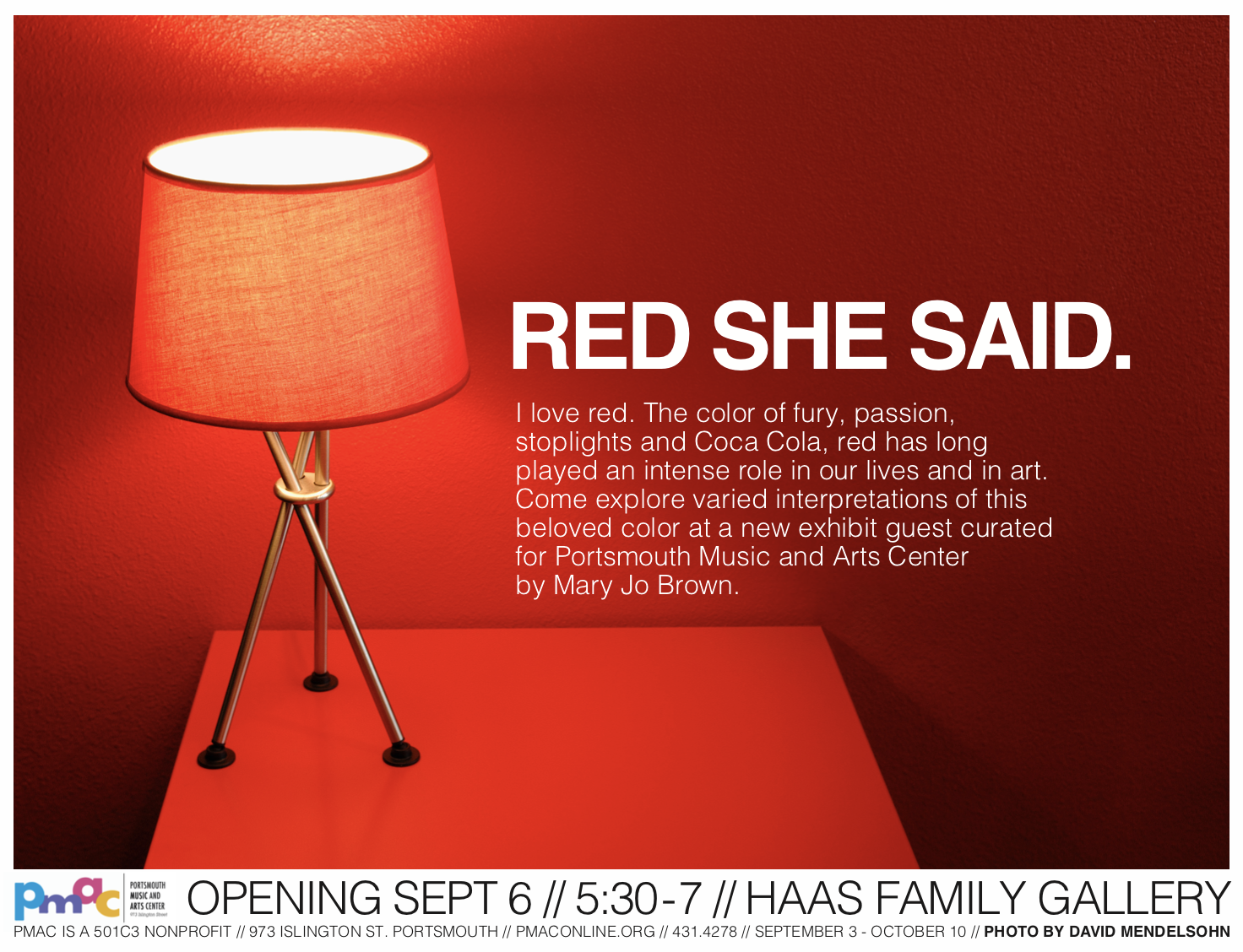 Red She Said - event poster by PMAC